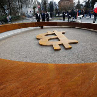 A city in Slovenia just unveiled the world's first Bitcoin monument-750-501