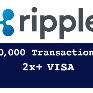 (XRP) Ripple Surpasses VISA Transaction Speed