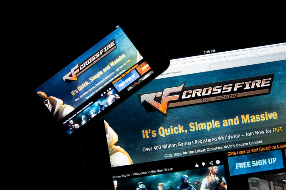The website for CrossFire, an online game developed by SmileGate Holdings and published by Tencent Holdings Ltd. in China.